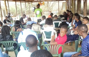 Training Makini school prefects at Camp Malta