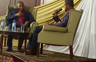 MC Kogi interviewing Johnson Mwakazi